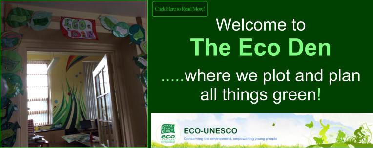 Welcome to  The Eco Den   .....where we plot and plan all things green!